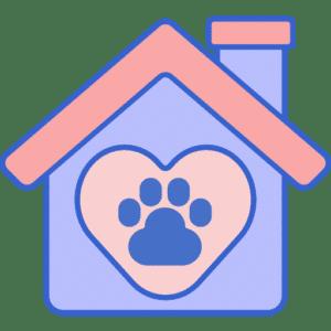 Casa de acogida para un gato