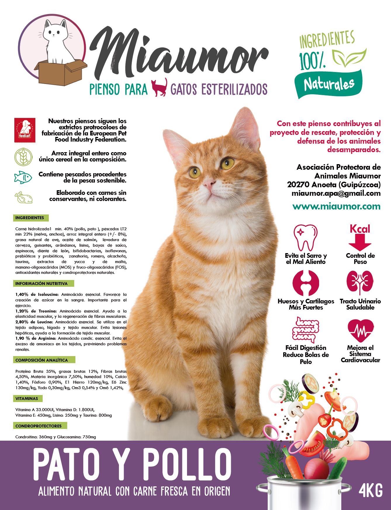 Piensos Naturales Para Gatos Miaumor