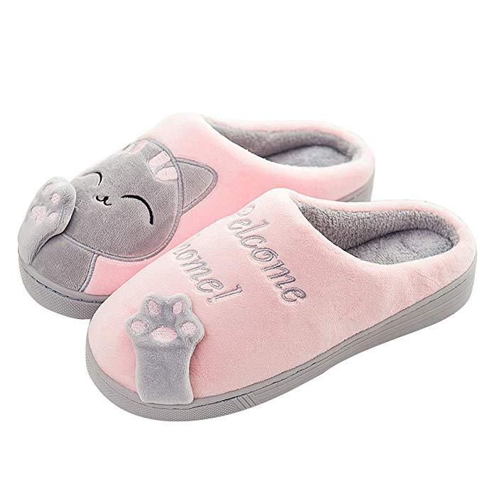 Zapatillas con diseño de gatito